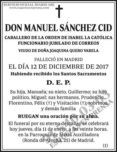 Manuel Sánchez Cid